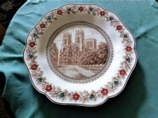 COLLECTABLE WEDGWOOD DESSERT PLATE LNER YORK MINSTER CATHEDRAL CK5760 CATHERINE